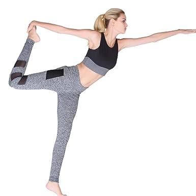 Mujer recortados cintura alta yoga pantalones deportivos ...