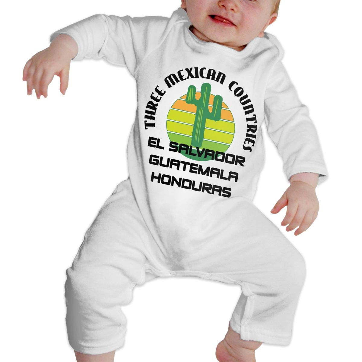 LBJQ8 Three Mexican Countries Infant Baby Girl Boys Organic Cotton Romper Jumpsuit Bodysuit