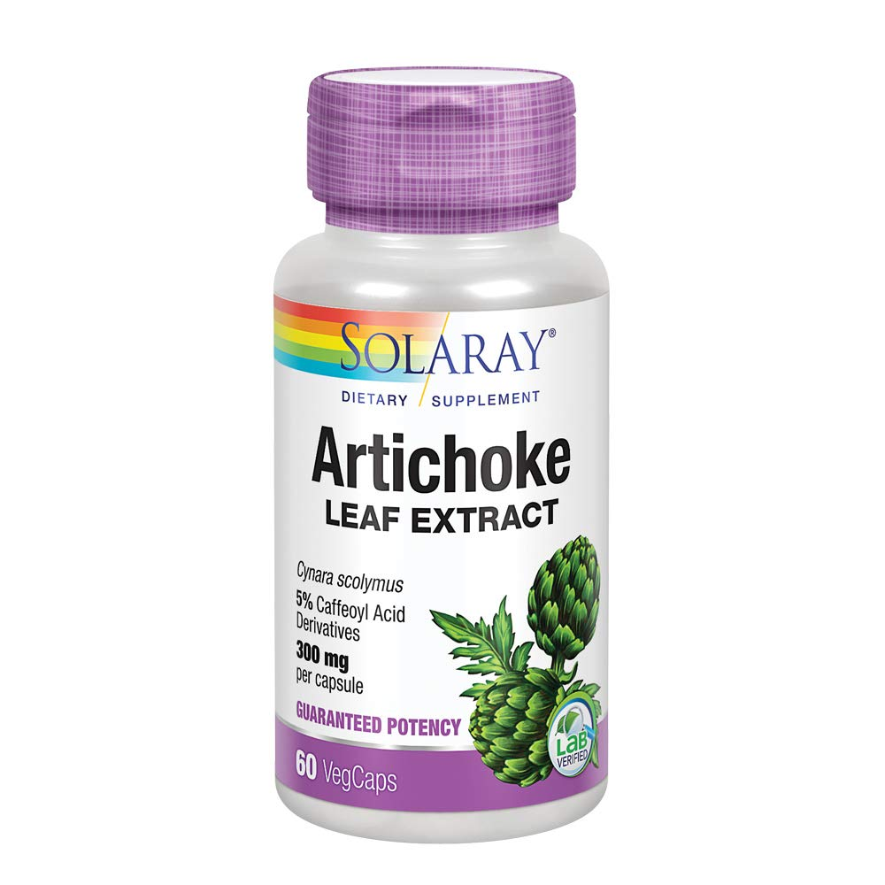 Solaray Artichoke Leaf Extract 600mg | Guaranteed Potency | Healthy Liver, Gall Bladder & Digestive Function Support | Lab Verified | 60 VegCaps