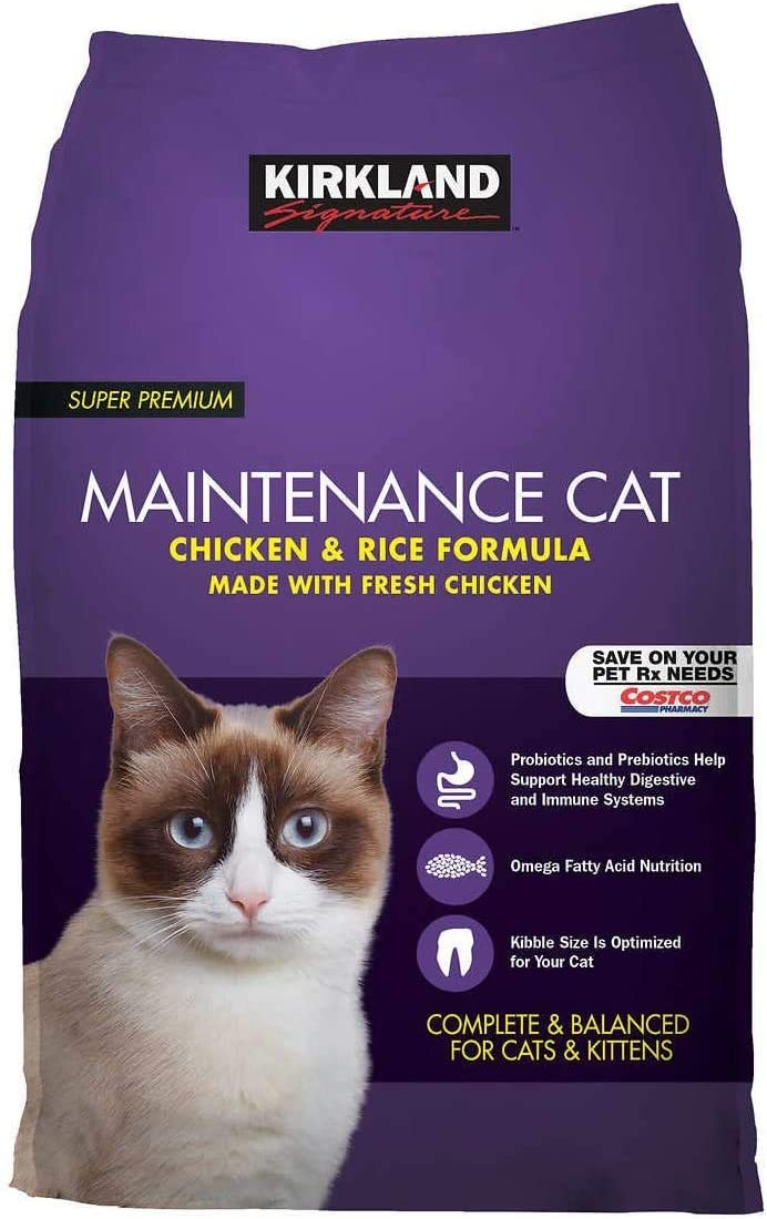EVAXO Kirkland Signature Chicken and Rice Cat Food 25 lbs.