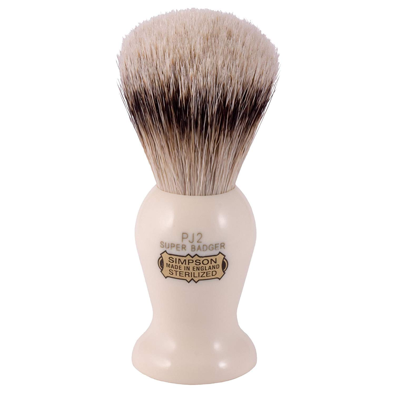 Simpsons Persian Jar PJ2 Super Badger Hair Shaving Brush Medium - Imitation Ivory by Simpson