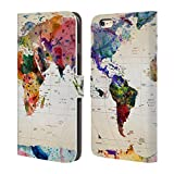 Official Mark Ashkenazi Map Of The World Pop Culture Leather Book Wallet Case Cover For Apple iPhone 5 / 5s / SE