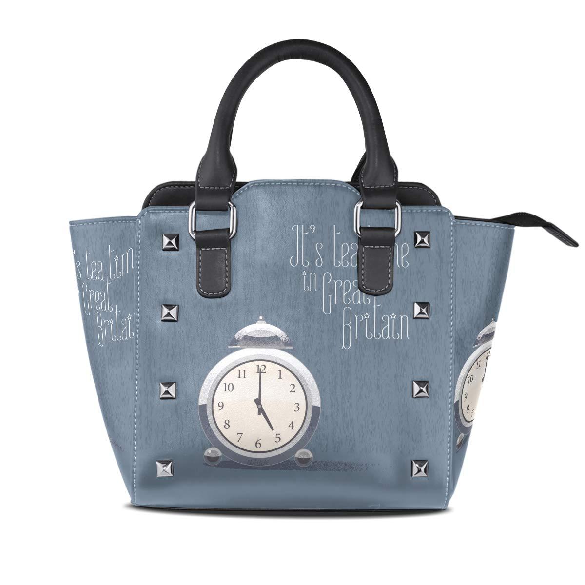 Design5 Handbag shoes Genuine Leather Tote Rivet Bag Shoulder Strap Top Handle Women