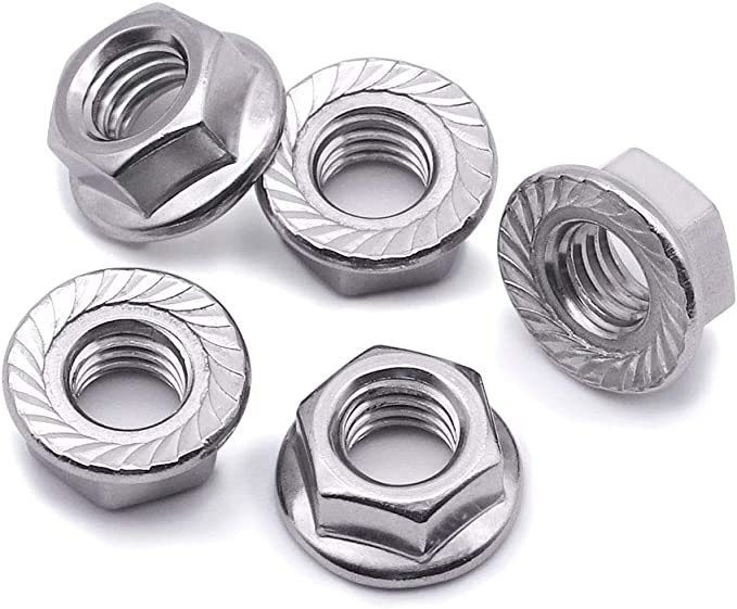 50 PCS by Eastlo Fastener Bright Finish,304 Stainless Steel 18-8 5//16-18 Finished Hex Nuts