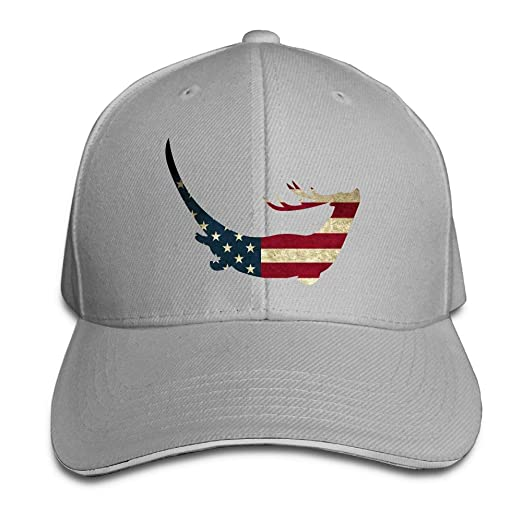 Youbah-01 Women s Men s Otter Reindeer USA Flag Adult Adjustable Snapback  Hats Sandwich Cap bb3e5b493187