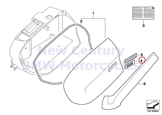 Amazon Com Bmw Genuine Motorcycle Case Lid At Lowe Part Of Case