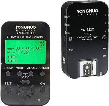 YONGNUO Wireless TTL Flash Trigger YN622 II YN-622C II with HSS 1//8000 for Canon