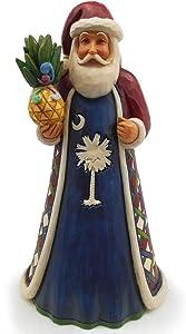 Enesco Jim Shore Heartwood Creek Santa's Around The World South Carolina Figurine, 7.25 Inch, Multicolor