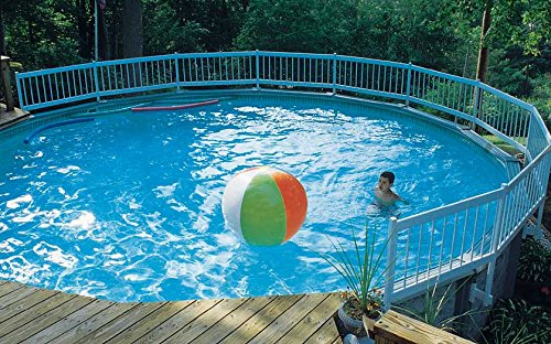 Vinyl Works Resin Above-Ground Pool Fence Kit - 36-Inch Fence Kit B (3 Sections) ()