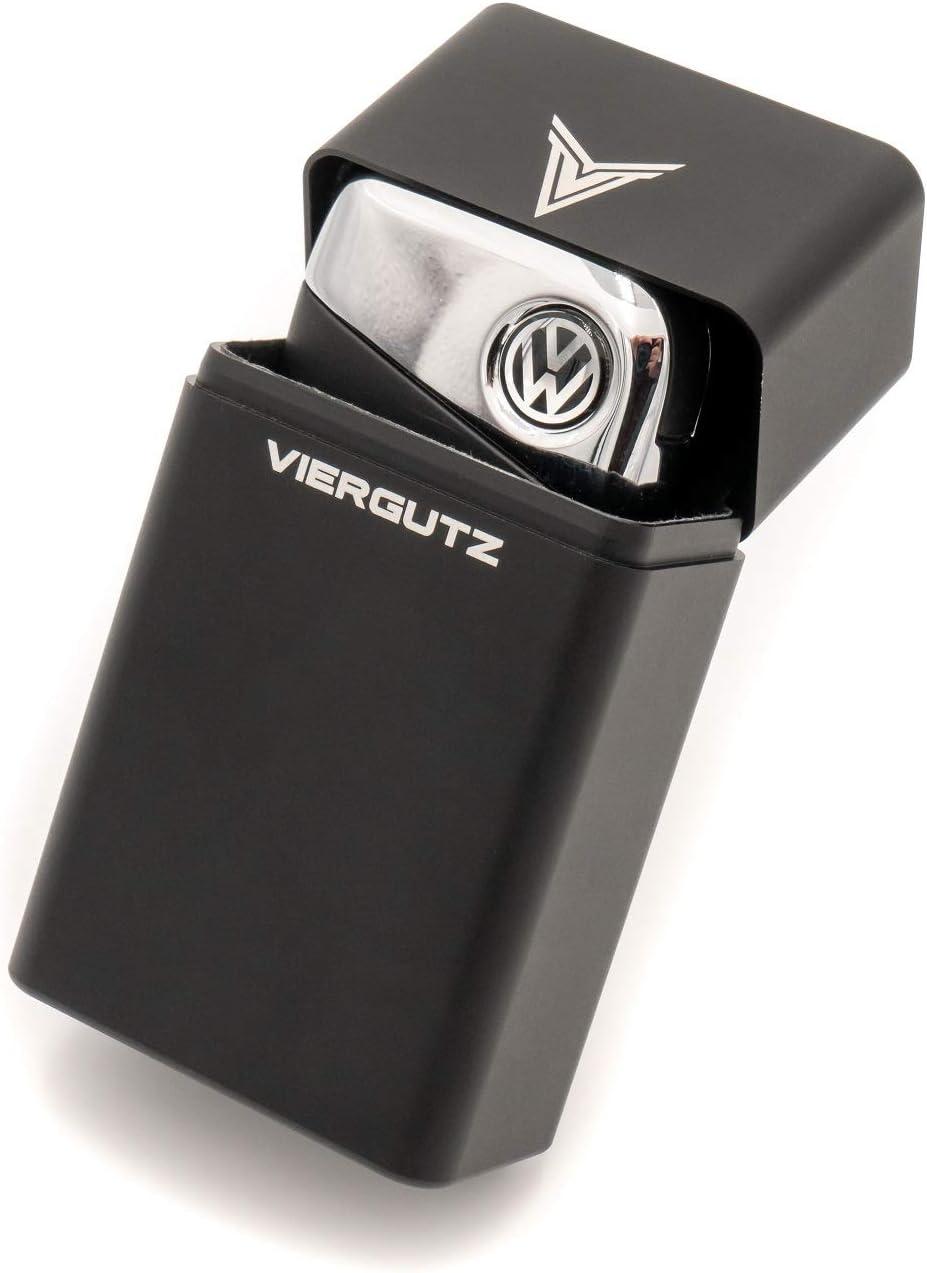 VIERGUTZ Faraday Key fob Protector Box, Luxury Key Fob Box, RFID Signal Blocker Pouch & Anti-Theft case. / Faraday cage (Black Horizontal) Total Signal Blocking for Smart Keys. Anti Skimming