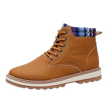 d69e31c8ea Fiaya Men s Winter Snow Boots Casual High-Cut Fur Lined Waterproof Warm  Sneakers High Top