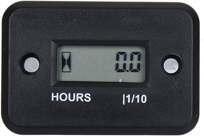 LCD Compteur d/'heures inductif de moto de motoneige vehicule terrain 99999RPM