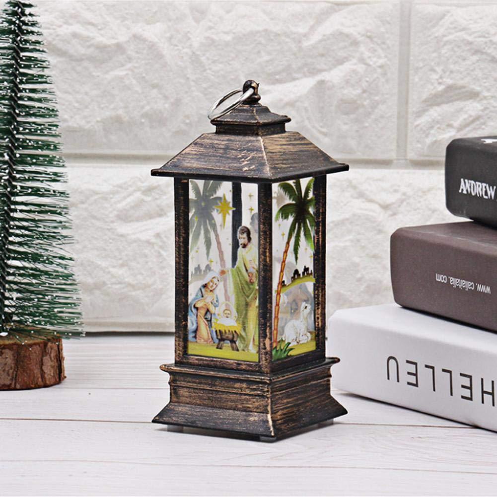Christmas Garden lanterne –  simulazione fiamma luci tavolo fiamma lampada fiamma luce per esterni campeggio lampada a olio di simulazione di Halloween di Natale luce decorativa Old Man Kbsin212