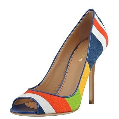 a1dc8eee0b3e8 Dsqured2 Women's Multi-Color Open Toe High Heels Pumps Shoes US 5 IT ...