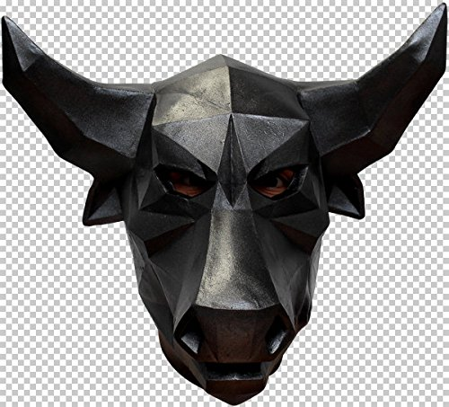 Mask Head Low Poly Art Bull