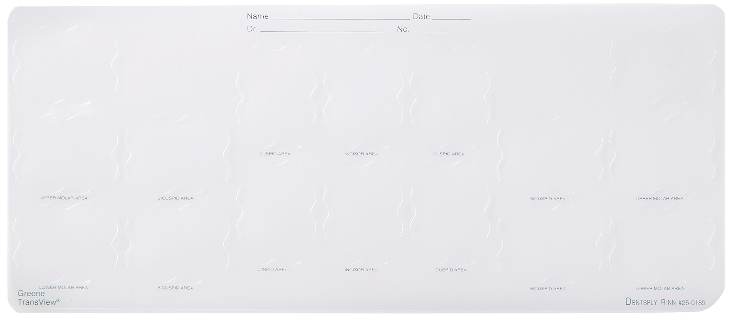 Dentsply 250185 Trans View Notched/Die-Cut, Insert, Window, #2, 8H, 124 mm Width, 289 mm Length, Translucent (Pack of 100)