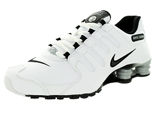 c4986cccb6 Amazon.com  Nike Shox NZ EU (White Wolf Grey Black) Women s Shoes ...