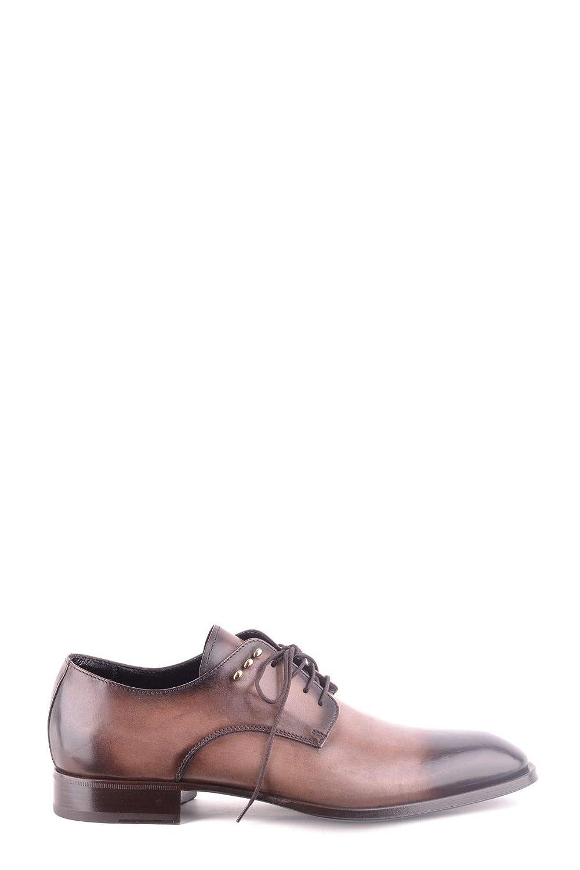 Cesare Paciotti Homme MCBI31474 Marron Marron Cuir Chaussures à Lacets  magasin pas cher