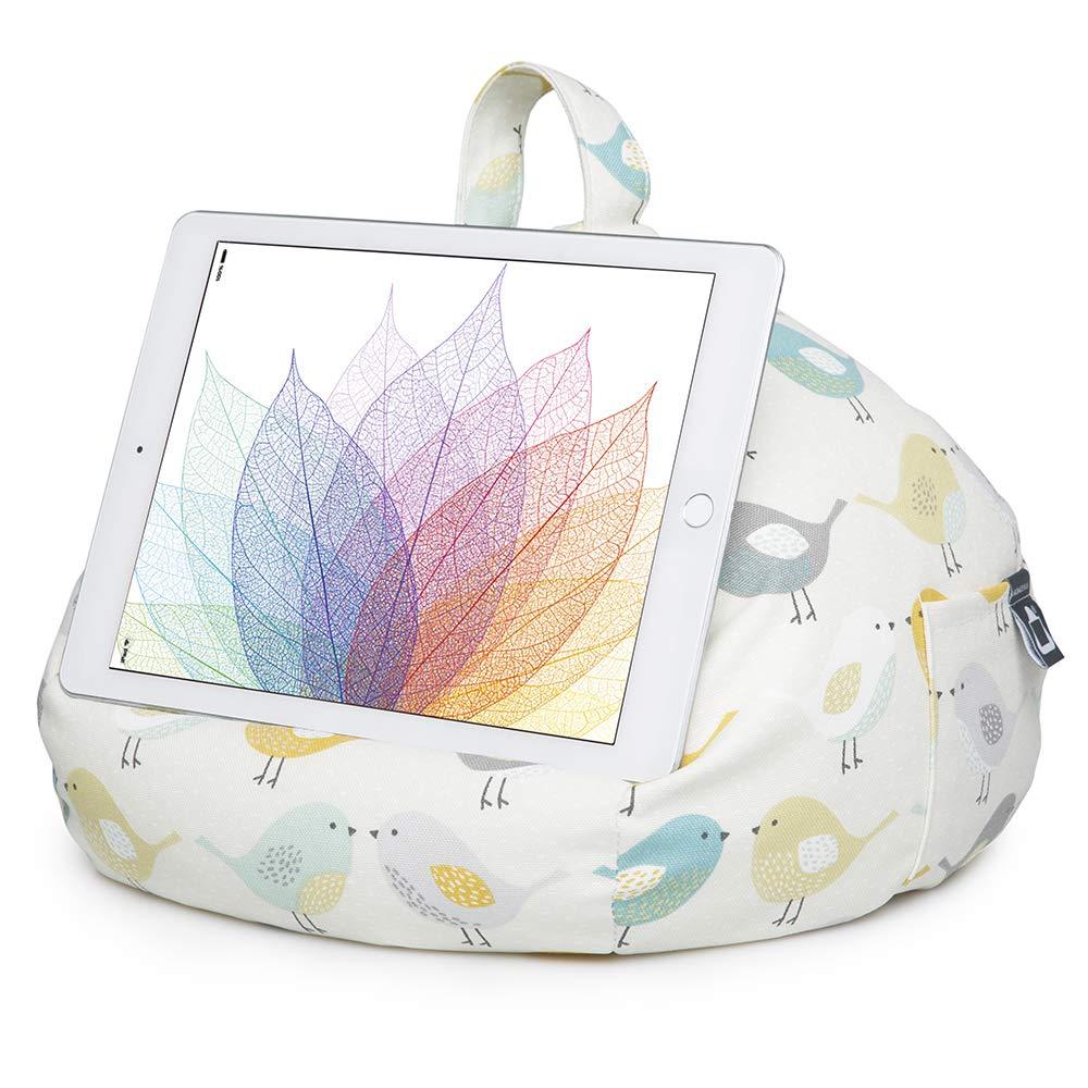 iBeani Soporte para iPad y Tableta, Soporte para cojín para Todos los Dispositivos, Cualquier ángulo en Cualquier Superficie pájaros