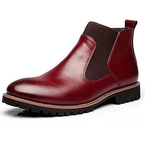 Botas Chelsea de Estilo Británico para Hombre Botines de Cuero Blandos para Hombre: Amazon.es: Zapatos y complementos