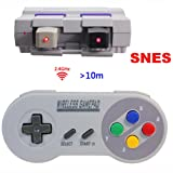 Wireless SNES Controller,2.4GHz Wireless Controller for Super NES Classic Edition&NES Classic Edition,Cordless Super NES Controller/Gamapad with Extra USB Adapter for PC,Raspberry PI (4 Colors Button) (Color: 4 Colors Button)