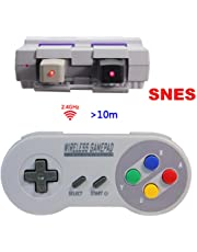 Manette sans Fil pour Nintendo Super NES Classic Mini,TT Globle 2.4GHz Contrôleur sans Fil pour Snes Classique Mini Edition,Manette Super Nintendo Classic Mini sans Fil (Colour A)