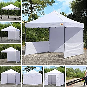 ABCCANOPY 10 x10 Pop Up Canopy Commercial Event Canopy Market Stall Canopy Booth Outdoor Trade Show Booth With Wheeled Carry Bags & Amazon.com : ABCCANOPY 10x10 EZ Pop up Canopy Tent Instant Shelter ...