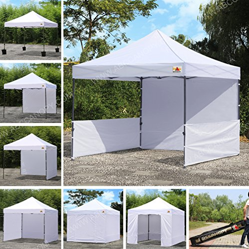 ABCCANOPY 10 x 10 Pop Up Canopy Commercial Event Canopy Market Stall Canopy Booth Outdoor Trade Show Booth With Wheeled Carry Bags
