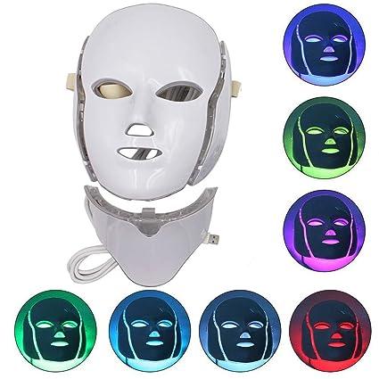 7 Color LED Cara Cuello Máscara-IR Fotón Terapia de luz ...
