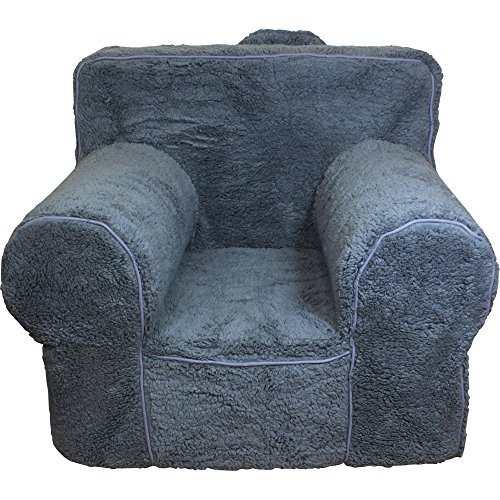 Anywhere Chair (CUB CHAIRS Small Grey Sherpa Chair Cover for Foam Children's Chair)