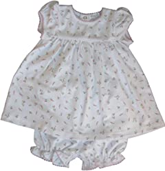 df7c981d5 Kissy Kissy Baby Girls Garden Roses Print Dress With Diaper Cover