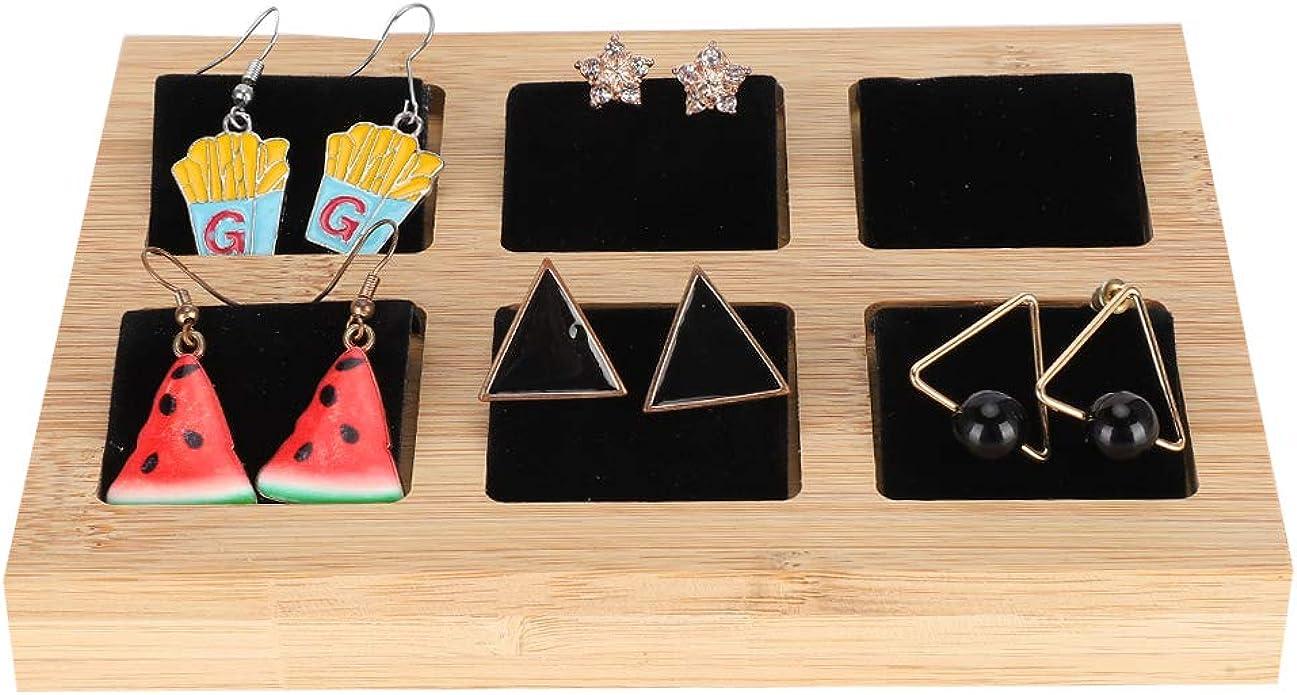 Kunstleder Bambus Ohrringe Display Kartenhalter für Ohrringkarten Samt