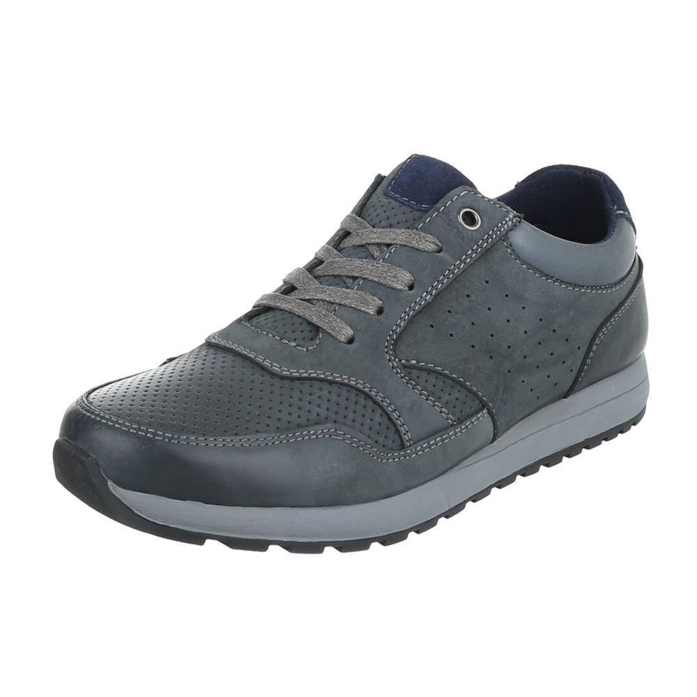 TALLA 42 EU. Ital-Design - Zapatos Planos con Cordones Hombre