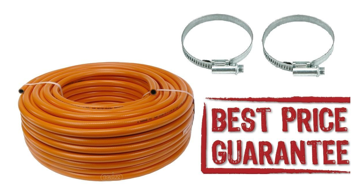 [BEST] Propane Butane LPG Gas hose pipe for Camping Caravan BBQ High pressure HD (1 meter) MZ