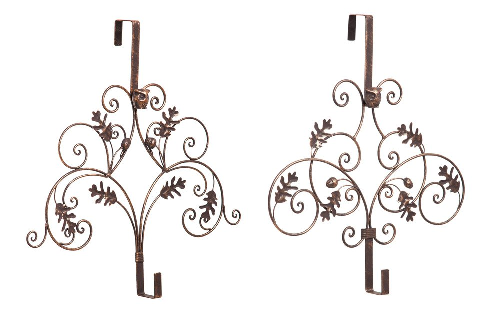 Pine Cones Wreath Holder (Set of 2) by Evergreen Garden