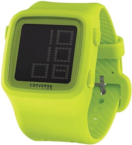 Converse VR002-340 - Reloj digital unisex de cuarzo con correa de silicona gris (alarma, cronómetro) - sumergible a 50 metros: Amazon.es: Relojes