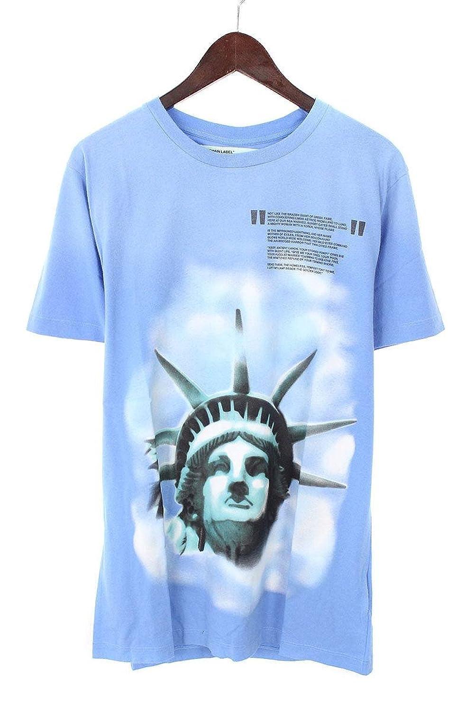 (オフホワイト) OFF-WHITE 【18AW】【LIGHT BLUE LIBERTY S/S T-SHIRT】リバティープリントTシャツ(M/ブルー) B07FQ1LC8Z  -