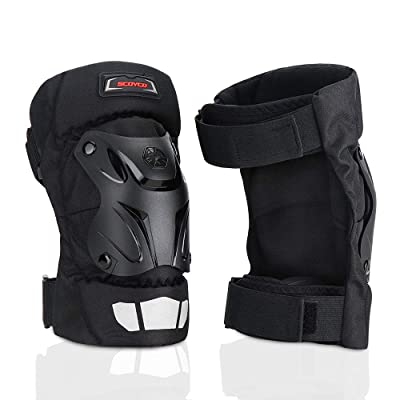 kemimoto Knee Pads Guards Motorcycle Riding Protective Gear Black: Automotive