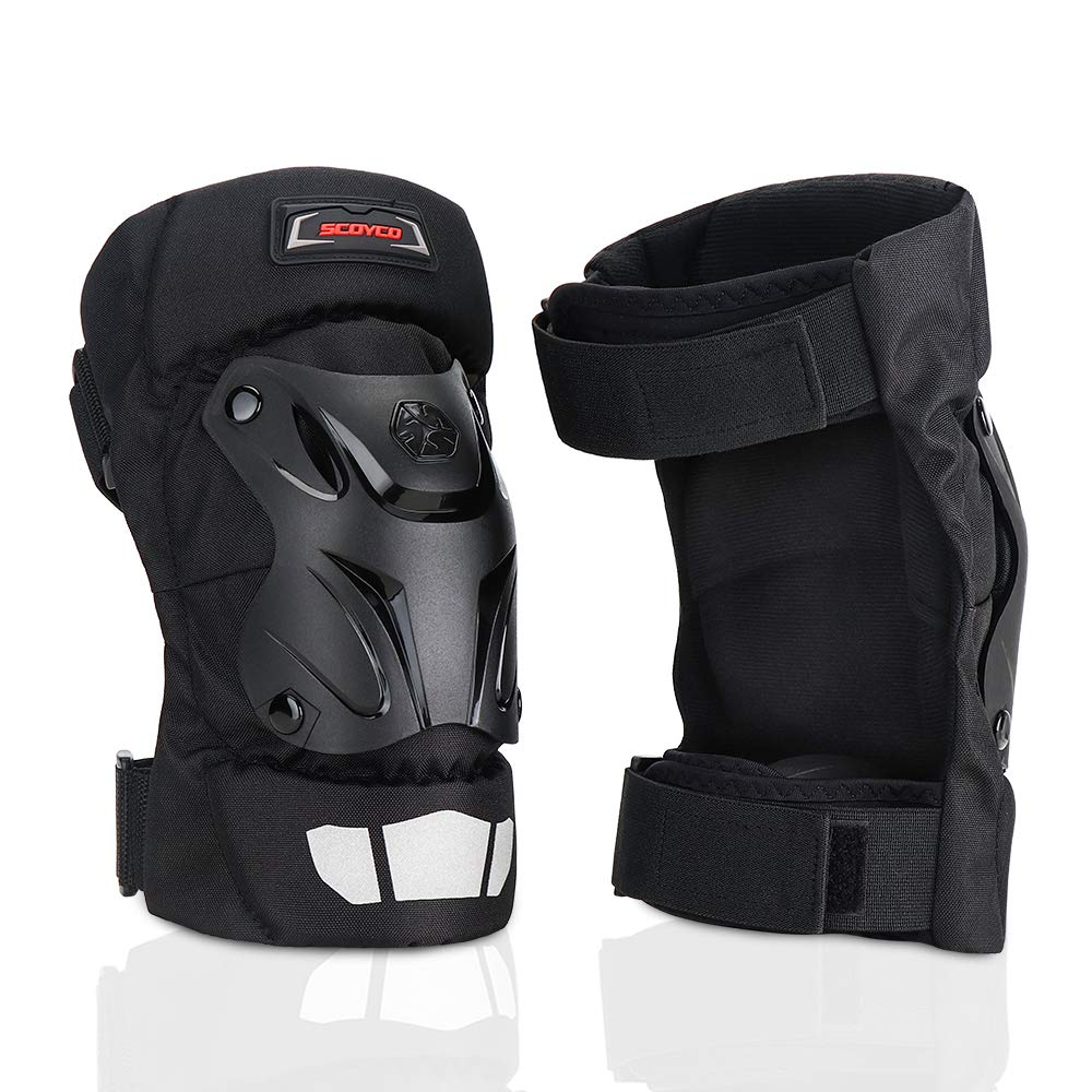 SCOYCO Cycling Kneepads,Motocross Knight Locomotive Off Road Safety Armor Protector & Collision Avoidance Knee Pads for Motorcycle/MTB/Dirt-bike (BLACK) by SCOYCO