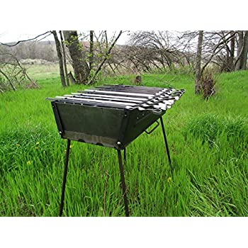 Brazier Case Schaschlik Grill Mangal Höhenverstellbar Bbq Mega Мангал 8 Skewer Pretty And Colorful Barbecues, Grills & Smokers Outdoor Cooking & Eating