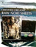 Raw Organic Nori Sheets 10 qty Pack! - Certified Vegan, Raw, Kosher Sushi Wrap Papers - Premium Unheated, Un Cooked, untoasted, dried - RAWFOOD