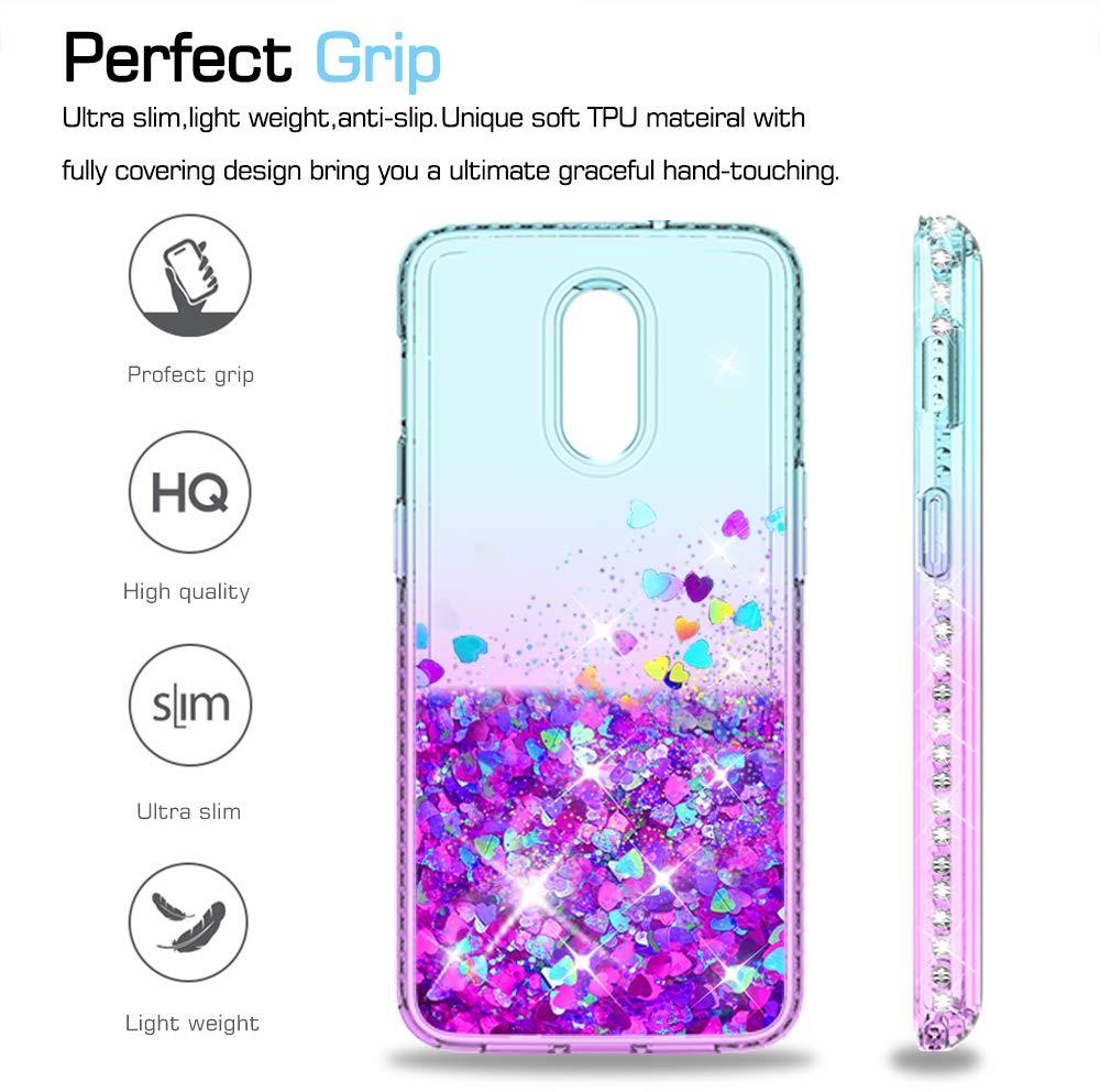 99b7ddd7781 ... 6T Silicona Purpurina Carcasa,Transparente Cristal Bumper Telefono Gel  Fundas Case Cover para Movil Oneplus 6T ZX Púrpura/Azul: Amazon.es:  Electrónica