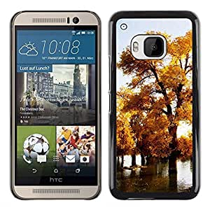 Exotic-Star ( Nature Beautiful Forrest Green 75 ) Fundas Cover Cubre Hard Case Cover para HTC One M9