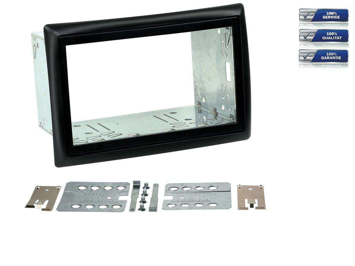 Doppel-DIN Radioblende fü r Renault Megane II Bj. 2002 -2010 *schwarz* NIQ 381250-06-NIQ