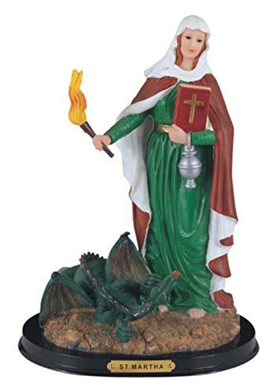 "StealStreet Saint Martha Holy Figurine Religious Statue Decor, 12"""