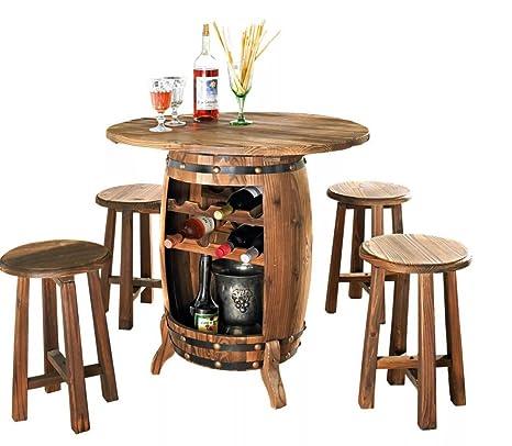 Tavolo Botte E Sgabelli.Mobili Da Giardino Set Vino Tavolo Con Sgabello Vino Botte