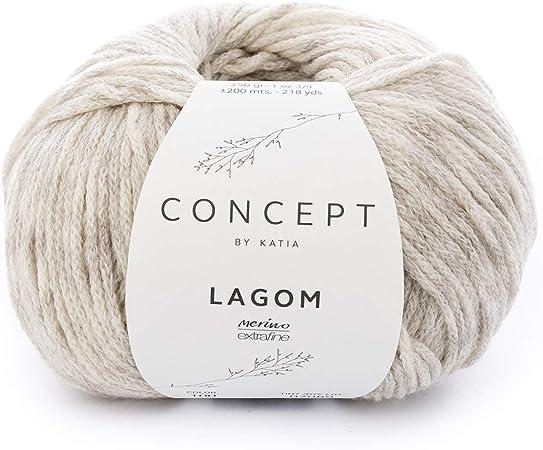 Katia lagom FB. 100 – Crudo, 50 g Lana de Merino con algodón para sricken y Ganchillo: Amazon.es: Hogar