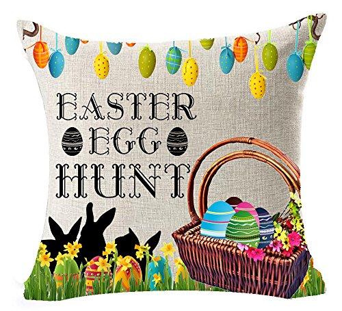 Happy Easter Cute Bunny Mushroom Dragonfly Color Eggs Cotton