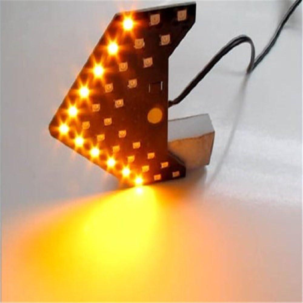 GZCRDZ pannelli LED sicuri Confezione da 2 unit/àIndicatori di direzione per specchietti dell/'auto a forma di frecce con 33/luci LED SMD sequenziali