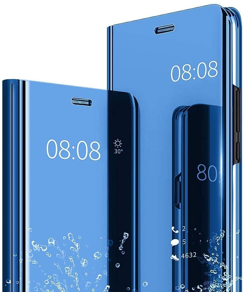 Espejo Funda para Samsung Galaxy J7 Nxt /J7 Core/J7 Neo J701M YKTO Ultra Slim Stand Cover Clear View Elegante Brillante Plating Translúcida Mirror Caso Anti-Scratch PC Hard Bonita Cárcasa Azul: Amazon.es: Electrónica